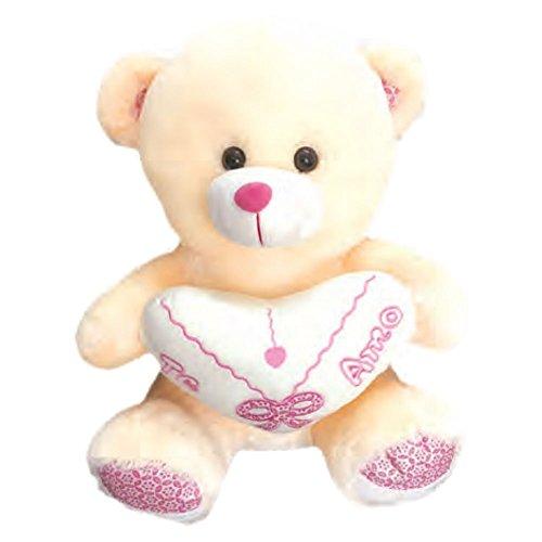 Valentines Day Gift Teddy Bear Plush Stuffed Animal Spanish Te Amo 9 inch , Peach