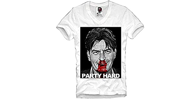 MARIA GARZA V-Neck T-Shirt Charlie Sheen Koks Dope DGK Blow Scarface: Amazon.es: Ropa y accesorios
