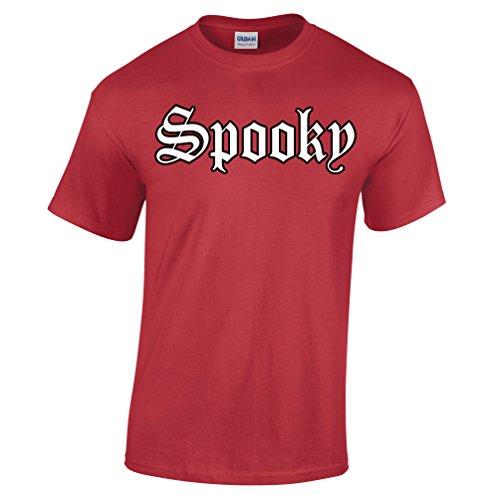 [Old English Spooky Scary Halloween Party Costume Scary Trick Treat Gift Mens T-Shirt] (College Girls Group Halloween Costumes)