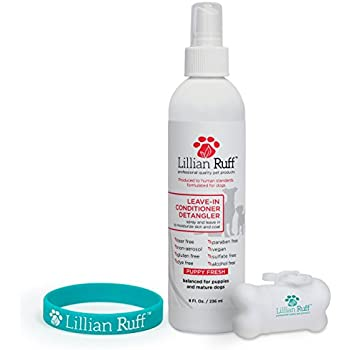 Lillian Ruff - Pet Dog Leave in Conditioner & Detangler Treatment Spray 8oz - Moisturizer For Normal, Dry & Sensitive Skin - Made In The USA