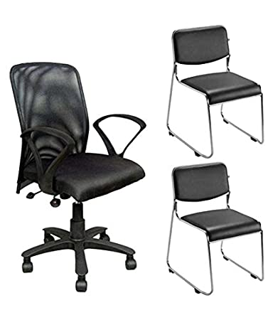 Nice Goods One Mesh Back Office Chair With Two Visitor ChairsNice Goods One Mesh Back Office Chair With Two Visitor Chairs  . Nice Office Chair. Home Design Ideas