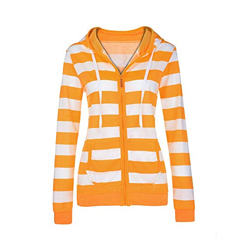 Manteau Capuche À Casual Zipper Jumper Tops Dames Sweat Veste Slim Femmes Jaune ❁tefamore wq0X6an