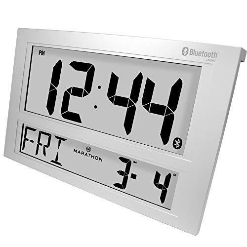 MARATHON CL800002GH Atomic Bluetooth Alarm Clock System For