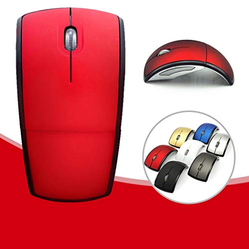 Wireless Mouse,2.4ghz Wireless Foldable Folding Arc Optical Mouse for Microsoft Laptop Notebook