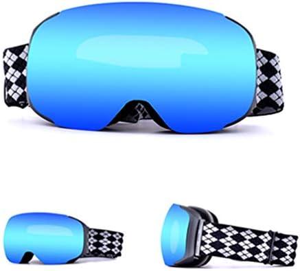 スキーゴーグルスノーボードゴーグルノンスリップストリップゴーグルスポーツ磁気交換レンズオーバーグラスアンチフォグヘルメット互換性のあるサングラス