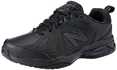New Balance Men's 624 Cross Training Shoes, Black, 7 US (X-Wide)