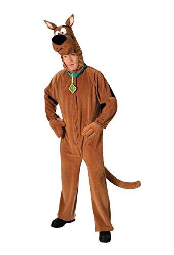 8eighteen Scooby-Doo Deluxe Scooby-Doo Adult Halloween Costume]()