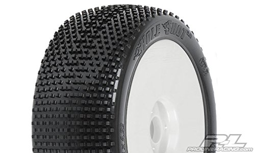 ProLine 9041034 Holeshot X4 Supersoft Off-Road 1/8 Buggy Tires Mounted On Lightweight Velocity Wheels, - Lightweight Buggy