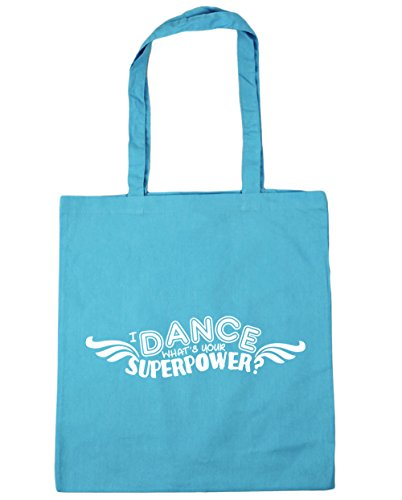 Blue What's Bag Beach Tote Shopping Surf I 10 Gym Superpower 42cm x38cm Your HippoWarehouse litres Dance qZUExR