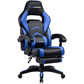 GTPOFFICE Gaming Chair Racing Style Office Swivel Computer Desk Chair Ergonomic Conference Executive Manager Work Chair PU Leather High Back Adjustable Task ...