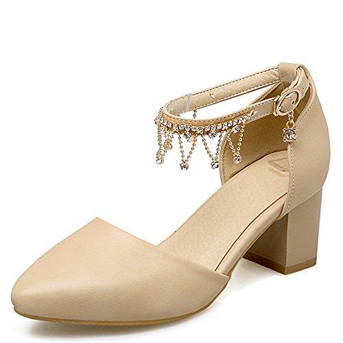 Fashion HeelSandals - Sandalias con cuña mujer albaricoque