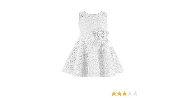 2016 diseño de flores de la manera de la princesa FEITONG chica de espaldas en ropa niños para los niños vestido de fiesta rosa blanco Talla:120: Amazon.es: ...