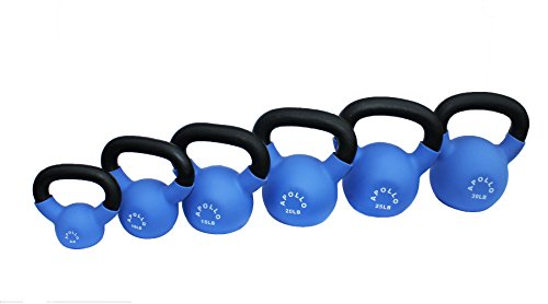 Apollo Athletics Neoprene Coated Kettlebell Set - 5-30 lbs