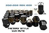 Venum wheel accessories 12-19 Ram Truck 1500 Black OEM Factory Style Black Lug Nuts M14x1.5 W/ 22MM Hex Close End 1.5'' Tall 5x5.5 New Model Ram 1500 Made in USA (LNRAM141BK-20)