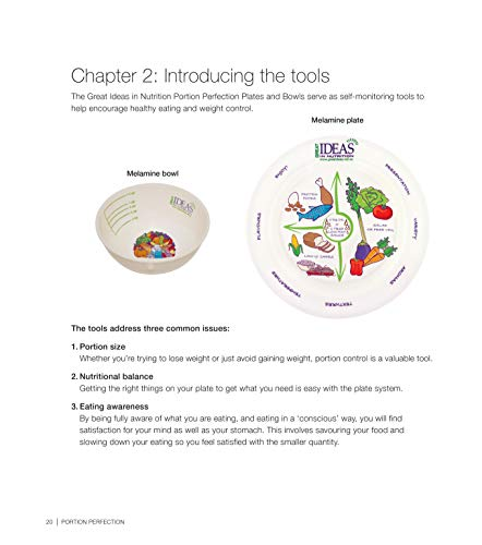 Portion Control Weight Loss Plan with 2 Melamine Portion Plates & Measuring Bowls Plus Portion Perfection International Book for Easy Weight Management - Weightloss for Women, Men and Children by Portion Perfection (Image #4)