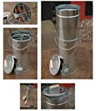 Bison Telescopic Fish And Meat BBQ Cold/Hot Food Smoker complete with Free Harwood Sawdust