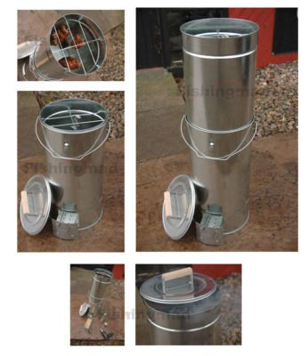 Bison Telescopic Fish And Meat BBQ Cold/Hot Food Smoker complete with Free Hardwood Sawdust