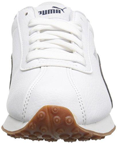 Zapatillas de running Turin para hombres, Puma White Peacoat, 14 M US