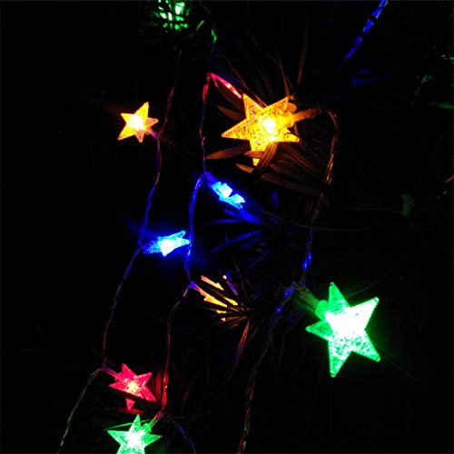 BGFHDSD 2M/3M/4M/5M LED Lucky Star Christmas String Light Battery Operated Holiday Wedding Xmas Party Garden Decoration Lights Green 4M 40LEDs by BGFHDSD (Image #4)