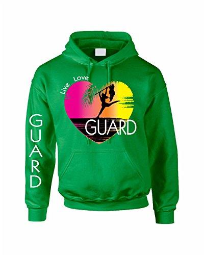 Allntrends Adult Hoodie Sweatshirt Guard Art Pink Print Love Cool (S, Irish ()