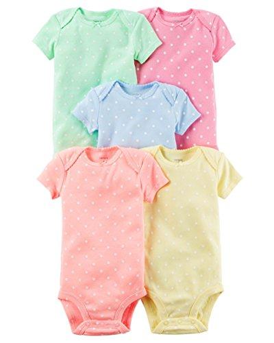 Dot Suit - Carter's Baby Girls' Multi-pk Bodysuits 126g623, Polka Dots, 24 Months