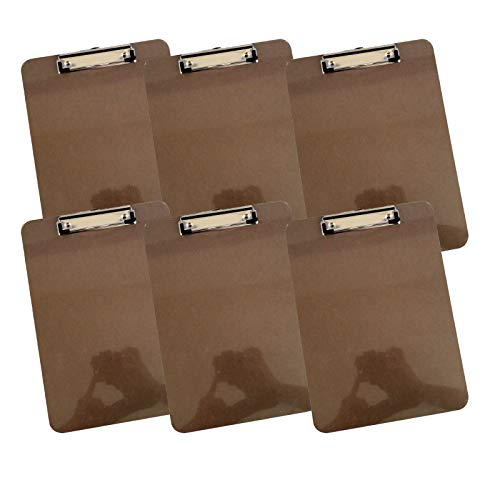 Letter Size Clipboard, Low Profile Clip Standard A4 [Pack of 6] -