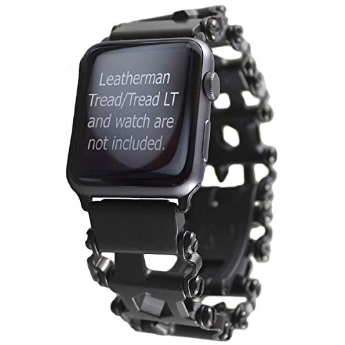 BestTechTool watch adapter compatible with LEATHERMAN TREAD - BTT adapter (compatible with Apple watch 44mm/ 42mm, BLACK, TREAD)