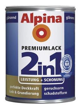 ALPINA 2in1 Buntlack & Grundierung 500 ml Lichtgrau RAL 7035, glänzend