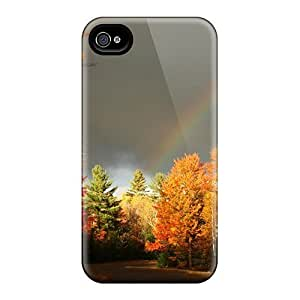 Fashion Protective Rainbow Over An Autumn Forest For Case Iphone 6Plus 5.5inch Cover