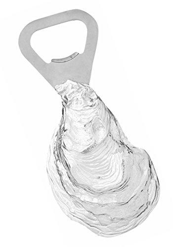 Shell Pewter Bottle Cap Opener Coastal Shellfish Ocean Pearls ()
