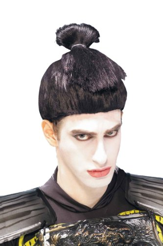 [Forum Novelties Men's Sumo Wrestler Asian Warrior Gothic Costume Wig, Black, One Size] (Asian Wig)