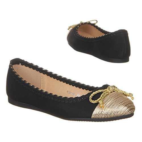 ballerina women's 1053 BL Black shoes wCn6Ux