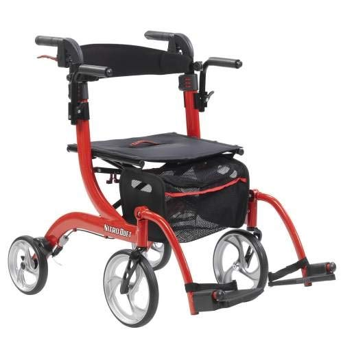 - Drive Medical Nitro Duet Dual Function Transport Wheelchair and Rollator Rolling Walker