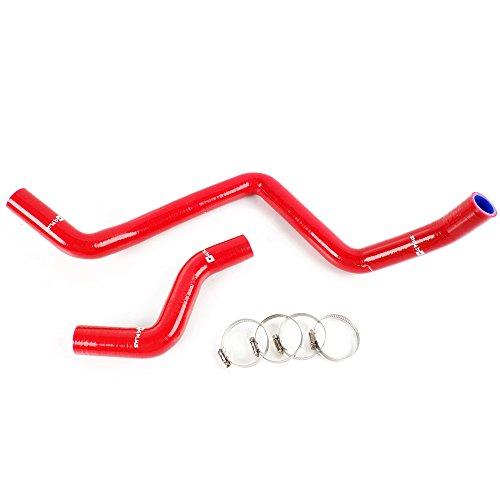 Radiator Silicone Hose For Honda Civic EK EG EX EG6 SOHC D15 D16 92-00 Red (Honda Civic Radiator Hose)