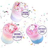 Cutiecute Cloud Slime, Unicorn Galaxy Fluffy Slime, DIY Slime Supplies Kit for Girls and Boys, Stress Relief Toy Scented…