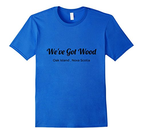 Men's Curse of Oak Island We've Got Wood Treasure Shirt 2XL Royal Blue