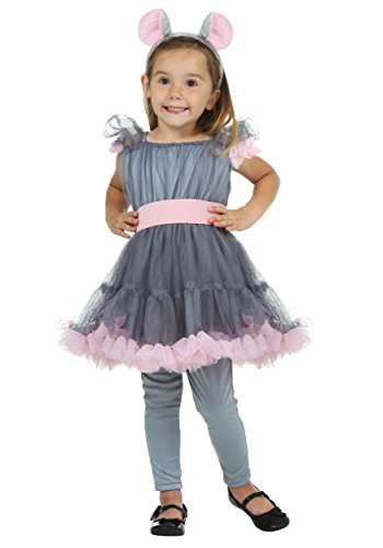 Fun Costumes Girl's Mouse Costume 4t (Toddler Mouse Costume)