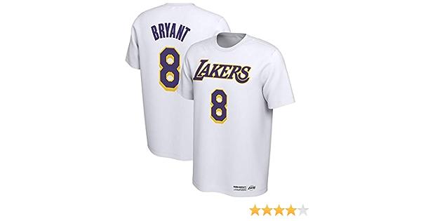 Camiseta NBA Kobe Bryant Cómoda Camiseta de Pecho de Abanico de Baloncesto Superior Manga Media de Hombre Joven, S: Amazon.es: Ropa y accesorios