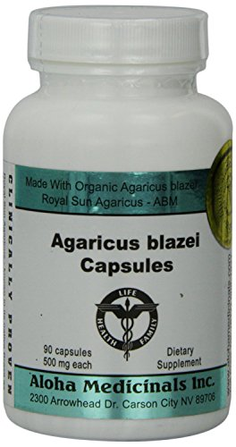 Aloha Medicinals – Certified Organic Agaricus blazei Natural Immune system Support – 90 Vegetarian Caps For Sale