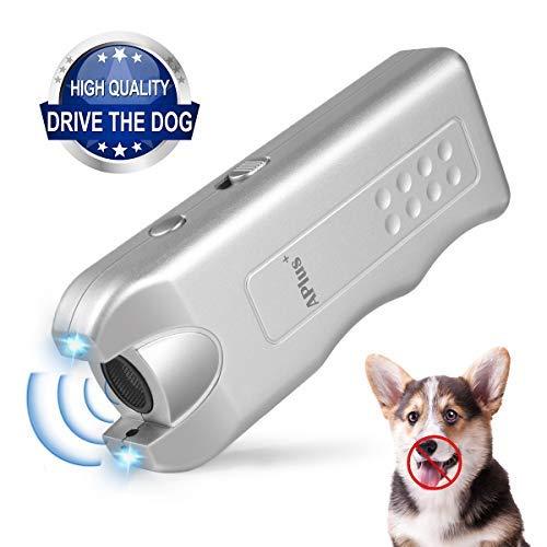 ELenest Handheld Dog Repellent, Ultrasonic Infrared Dog Deterrent, Bark Stopper + Good Behavior Dog Training