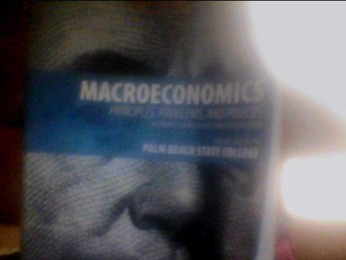 Macroeconomics: Principles, Problems, and Policies