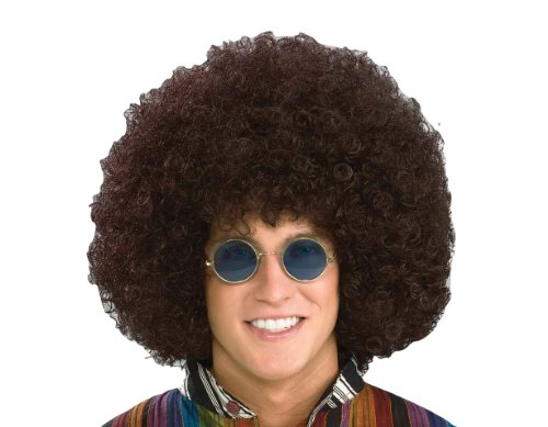 Forum Novelties Men's Jumbo Afro Hippie Costume Wig, Brown, One Size ()
