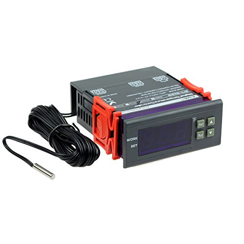 bayite AC 110V Fahrenheit Digital Temperature Controller 10A 1 Relay with Sensor ()