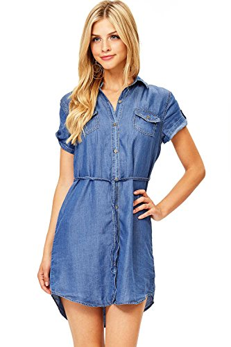 Cest Toi Black Label by Women's Short Sleeve Chambray, used for sale  Delivered anywhere in USA