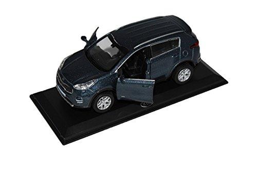 - [KIA Brand Collection] 1:38 Scale For KIA 2017+ All New Sportage QL Diecast Model MiniAture Car Toy - Mercury Blue