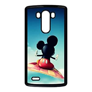 LG G3 Cell Phone Case Black Mickey Mouse Flying JNR2270746