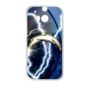 RAROFU Best Design San Diego Chargers Custom Case for HTC One M8 (Laser Technology)
