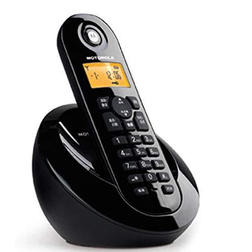 Purple Telephone Color : Black Black JSFQ Digital Cordless Telephone Landline Single Machine to The Office Home