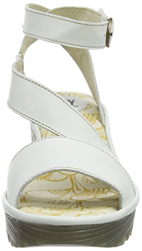 discounts outlet popular FLY London Women's Yesk Wedge Pump Off White cheap sale wiki store cheap online R9yhpEcH