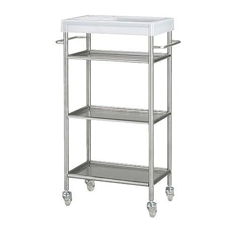 IKEA GRUNDTAL con ruedas de acero inoxidable: Amazon.es: Hogar